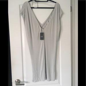 Armani Exchange Silky cotton jersey dress